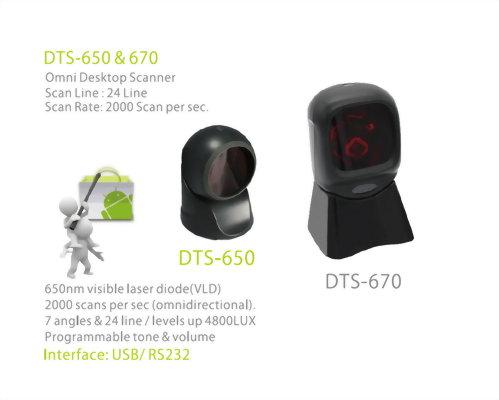Barcode Scanner-Desktop Scanner-DTS-670