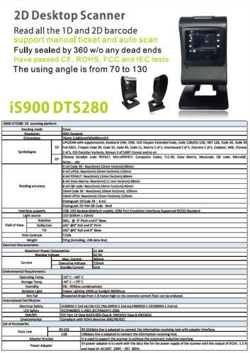 Barcode Scanner-Desktop Scanner-iS900 DTS-280
