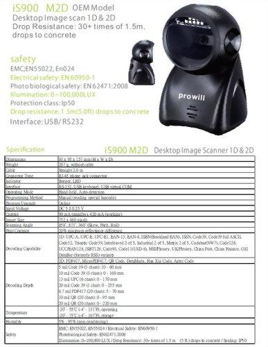 Barcode Scanner-Desktop Scanner-iS900 M2D