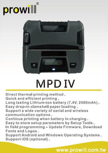 Barcode Scanner-Mobile Receipt Printer-MPD IV