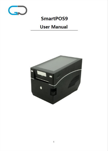 POS SmartPOS9 User Manual Eng Catalog