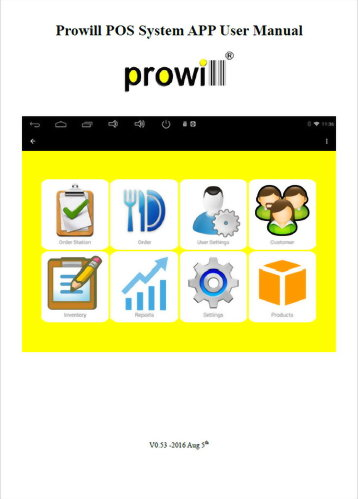 Prowill POS SystemManual Eng