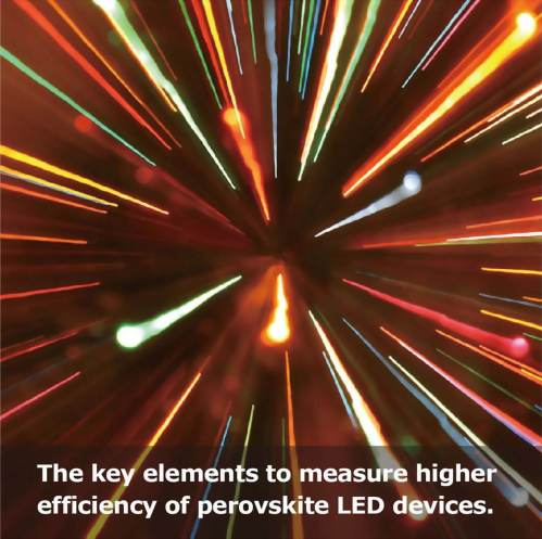 The key elements to measure higher efficiency of perovskite LED devices