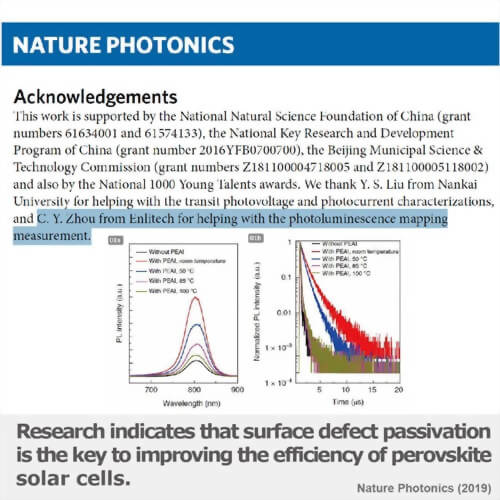 Research indicates that surface defect passivation is the key to improving the efficiency of perovskite solar cells