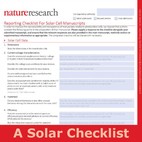 A solar checklist for papers