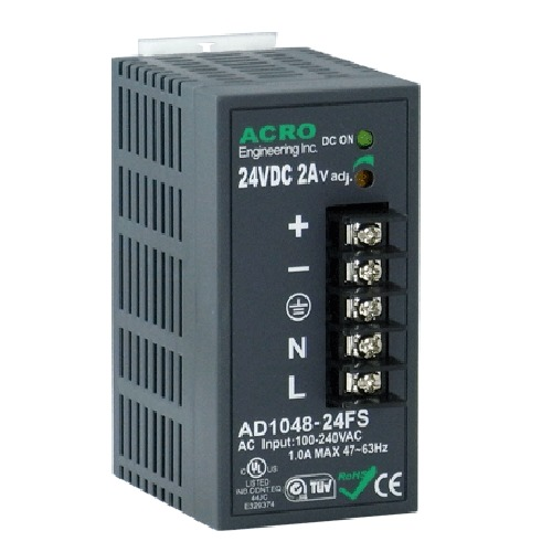 DIN Rail Power Supply 48W Watts, Single Output Power with DIN Rail