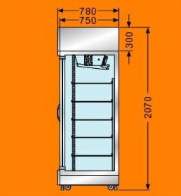 M滑門式展示櫃