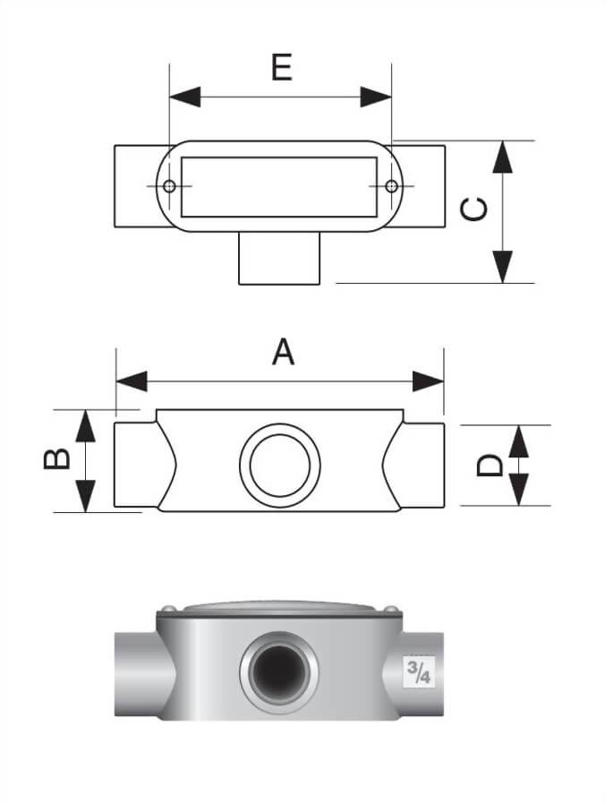T 型电管穿线匣