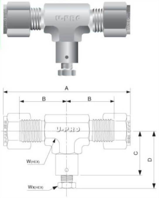 外管三通排氣閥