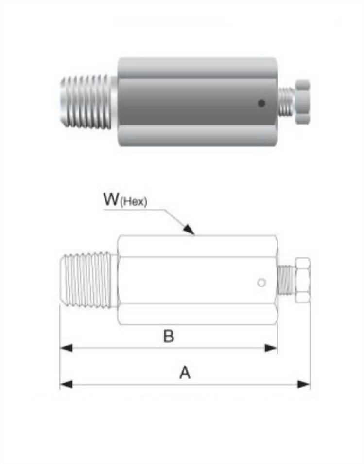 Vent Plug End Male Connector