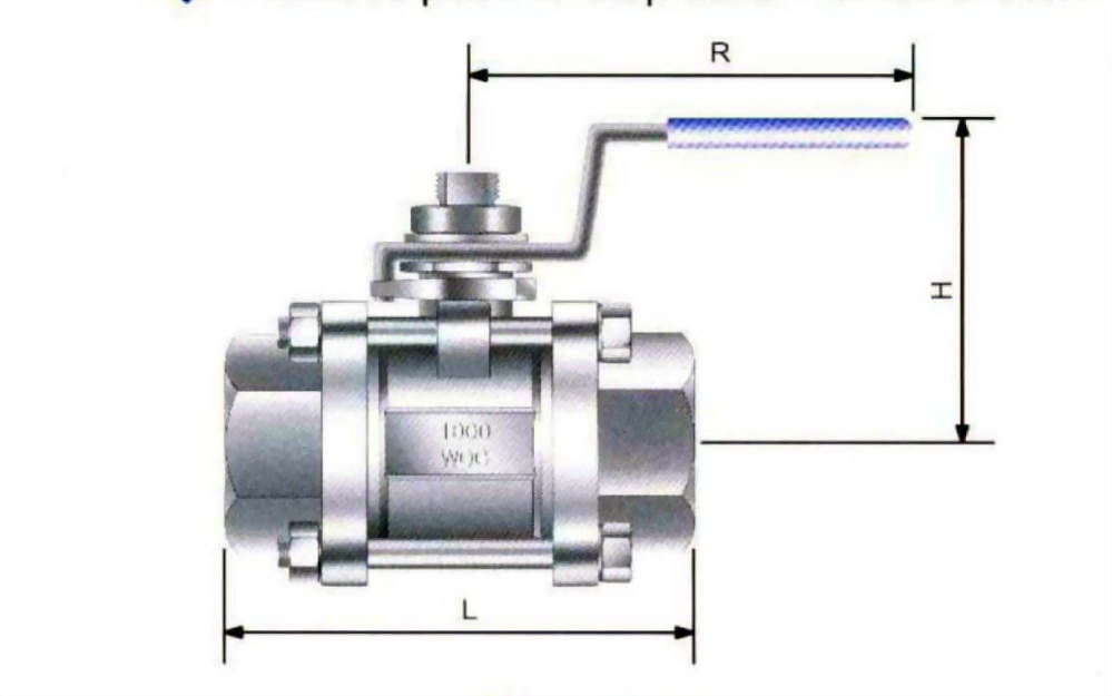 THREE -PIECE BALL VALVE