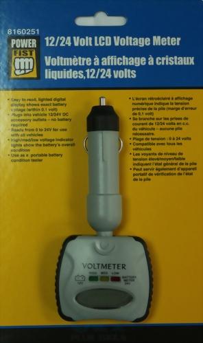 12/24 Volt Lcd Voltage Meter