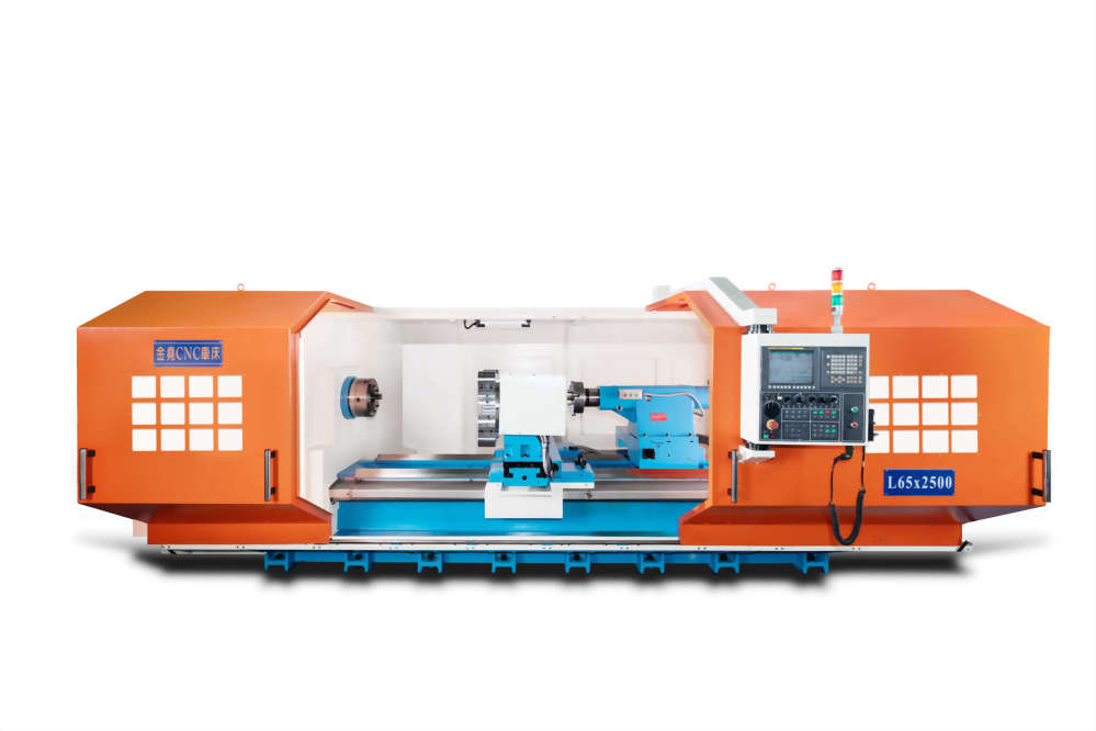 King Yao L650 giant CNC lathe ●Spindle: Heavy load heavy cutting ● turret: can be divided into 8 knives or 12 knives ● Subspindle tailstock ●Automatic scrap iron conveyor ● Independent rotation of the operating box ●Ultra-high-precision V-groove turning optics function