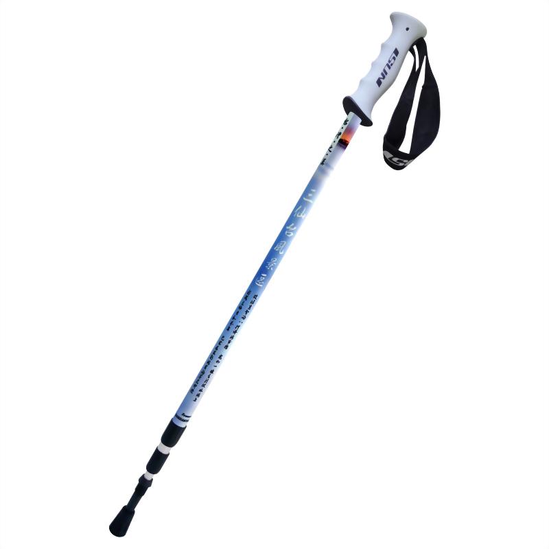 三仙台風景區 三段式避震登山杖 直立握把