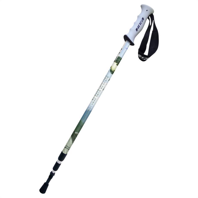 梅花湖 三段式避震登山杖 直立握把