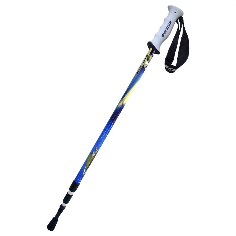 吉貝嶼 三段式避震登山杖 直立握把