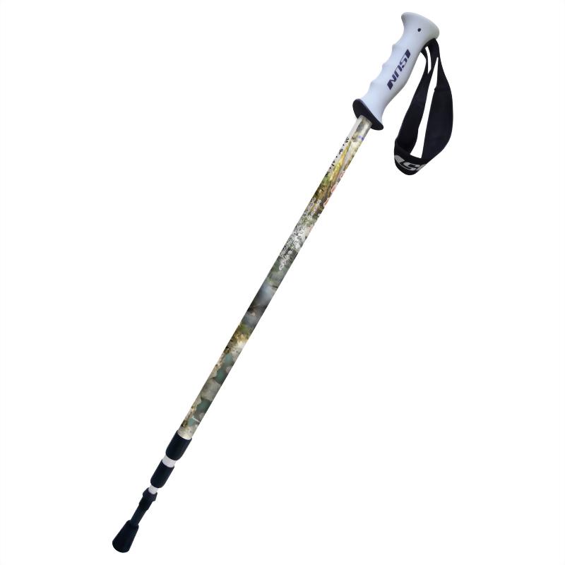 樟湖風景區 三段式避震登山杖 直立握把