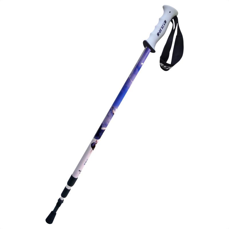 鶴科 三段式避震登山杖 直立握把
