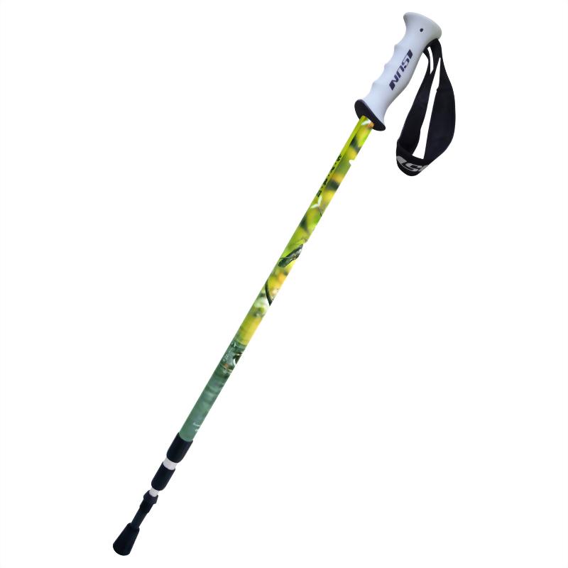杜鵑科 三段式避震登山杖 直立握把