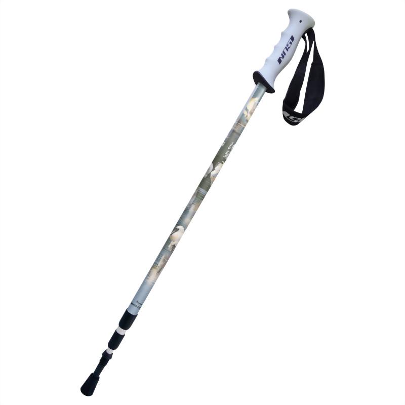 黑面琵鷺 三段式避震登山杖 直立握把