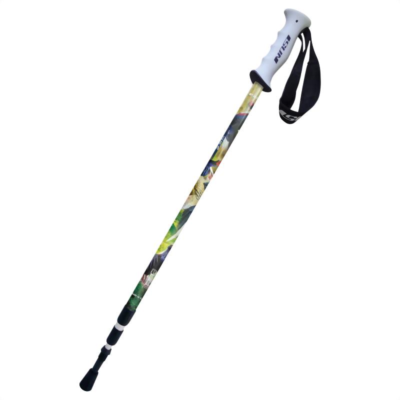 藍腹鷴 三段式避震登山杖 直立握把