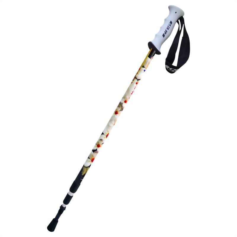 油桐花 三段式避震登山杖 直立握把