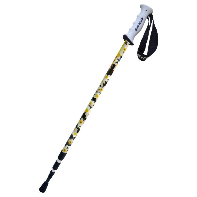 水仙花 三段式避震登山杖 直立握把