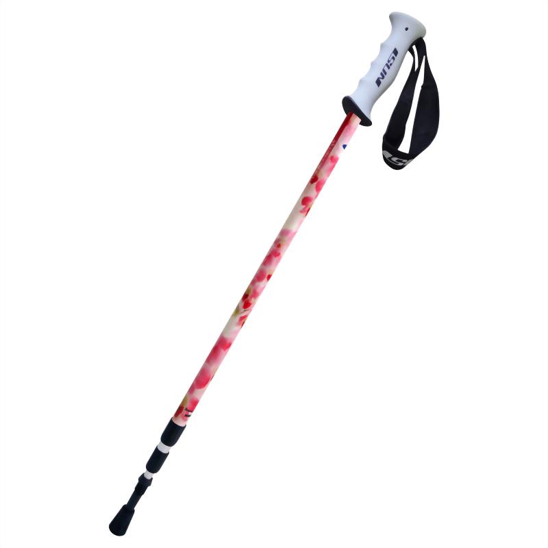 石斛蘭 三段式避震登山杖 直立握把