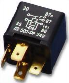Changover Relay with Diode ON 86+