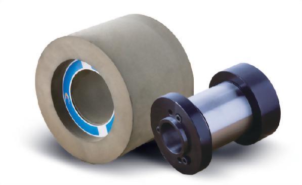 Regulating wheel and flange