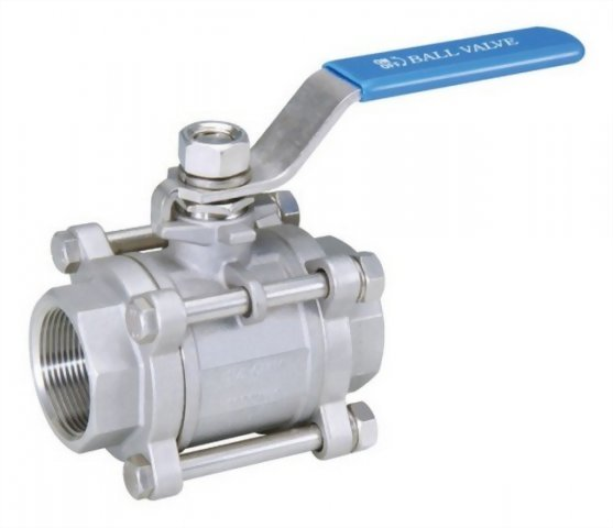 3 PC BALL VALVE WITH OCTAGONAL CAP