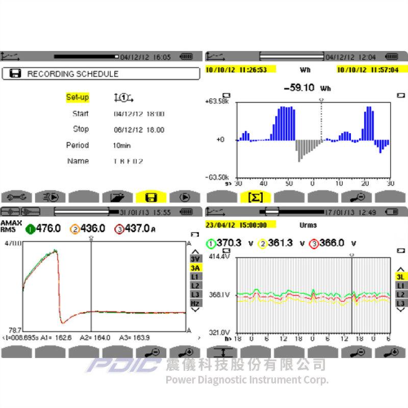 高階型三相電力品質分析儀