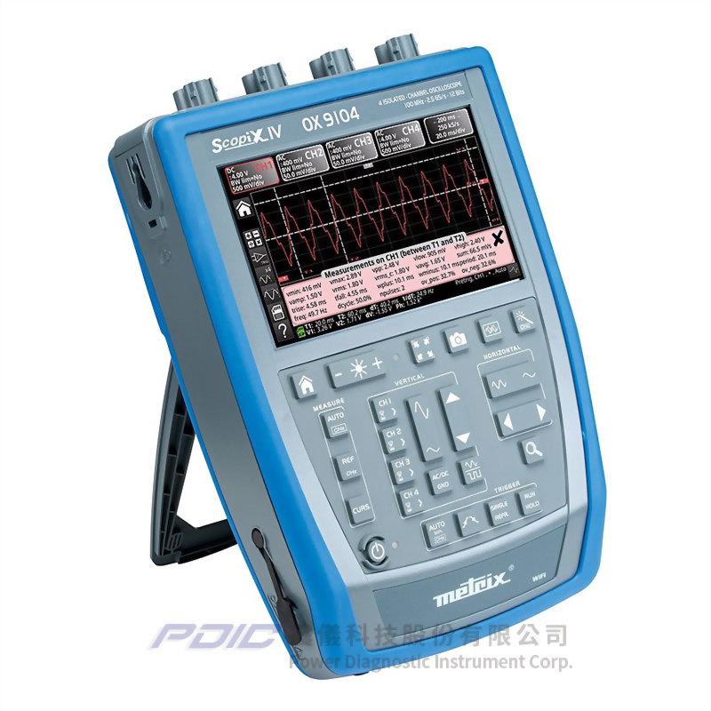 100MHz便攜式多功能示波器(4個獨立通道)