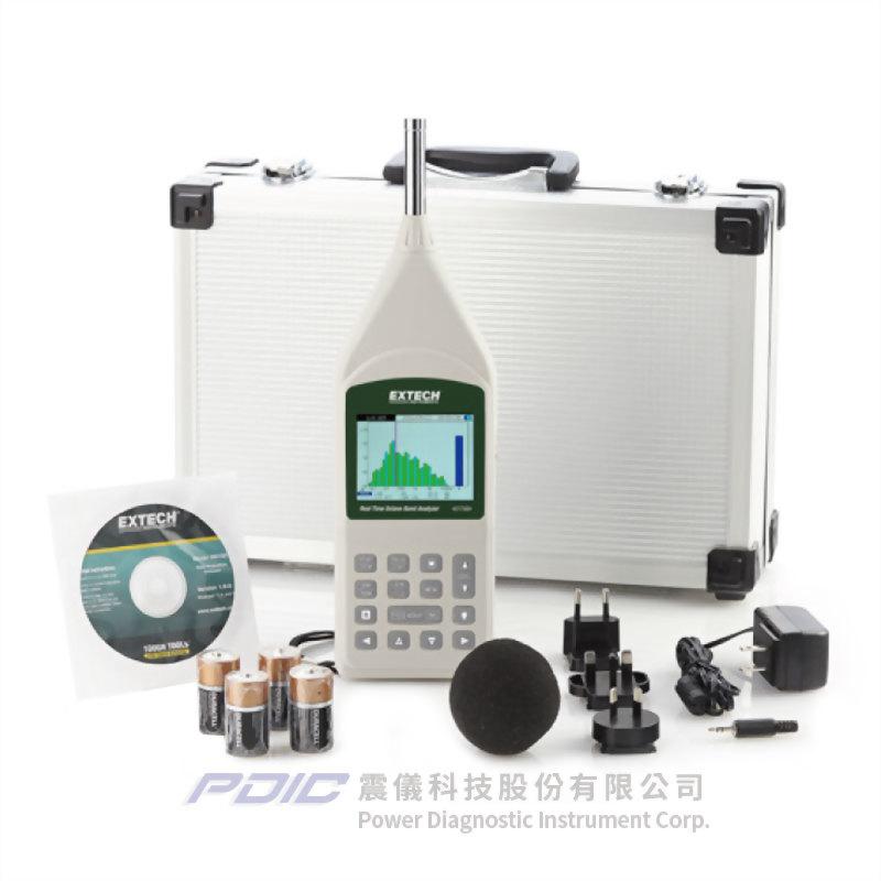 實時八音度音頻分析儀/聲級計
