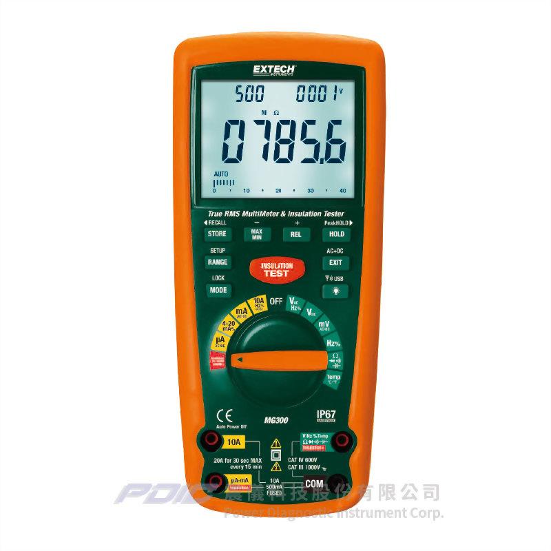 具無線傳輸介面的1kV高阻計/真有效值萬用電錶