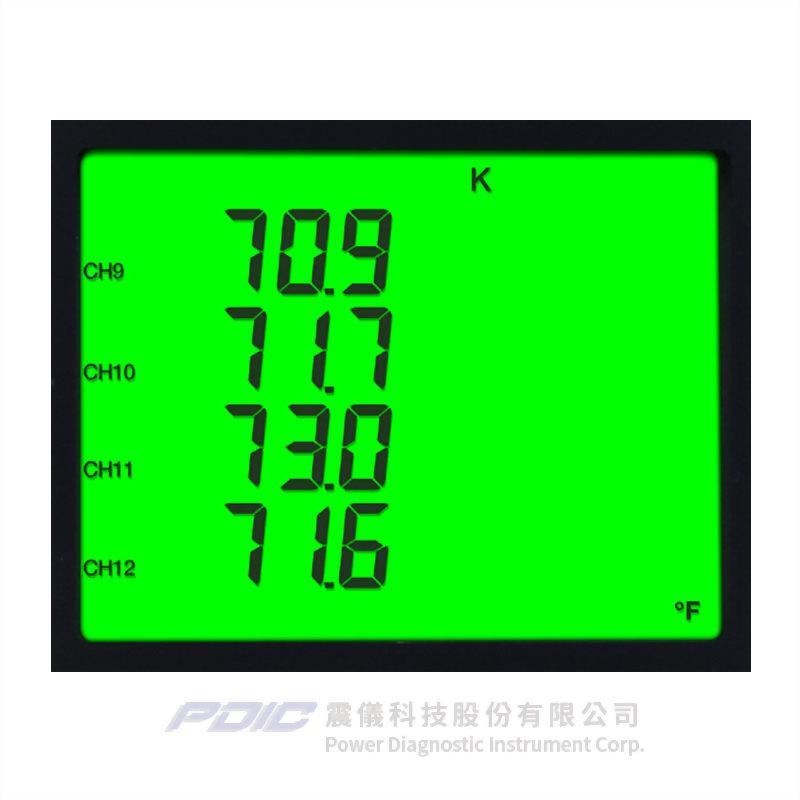 12通道資料記錄型熱電耦溫度計