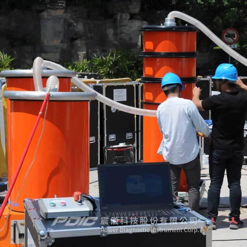 300kV高壓電纜阻尼交流電壓測試/局放測量/定位/分析系統