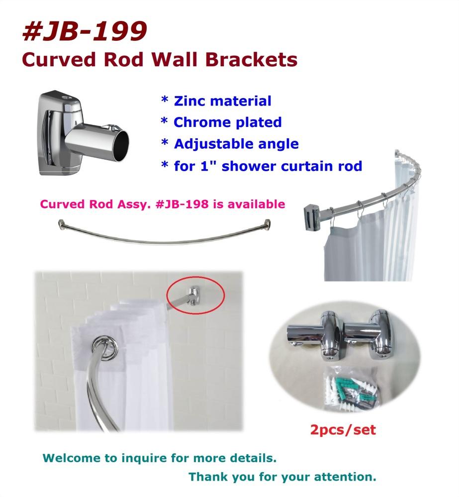 Bathroom Accessories-curved rod wall brackets