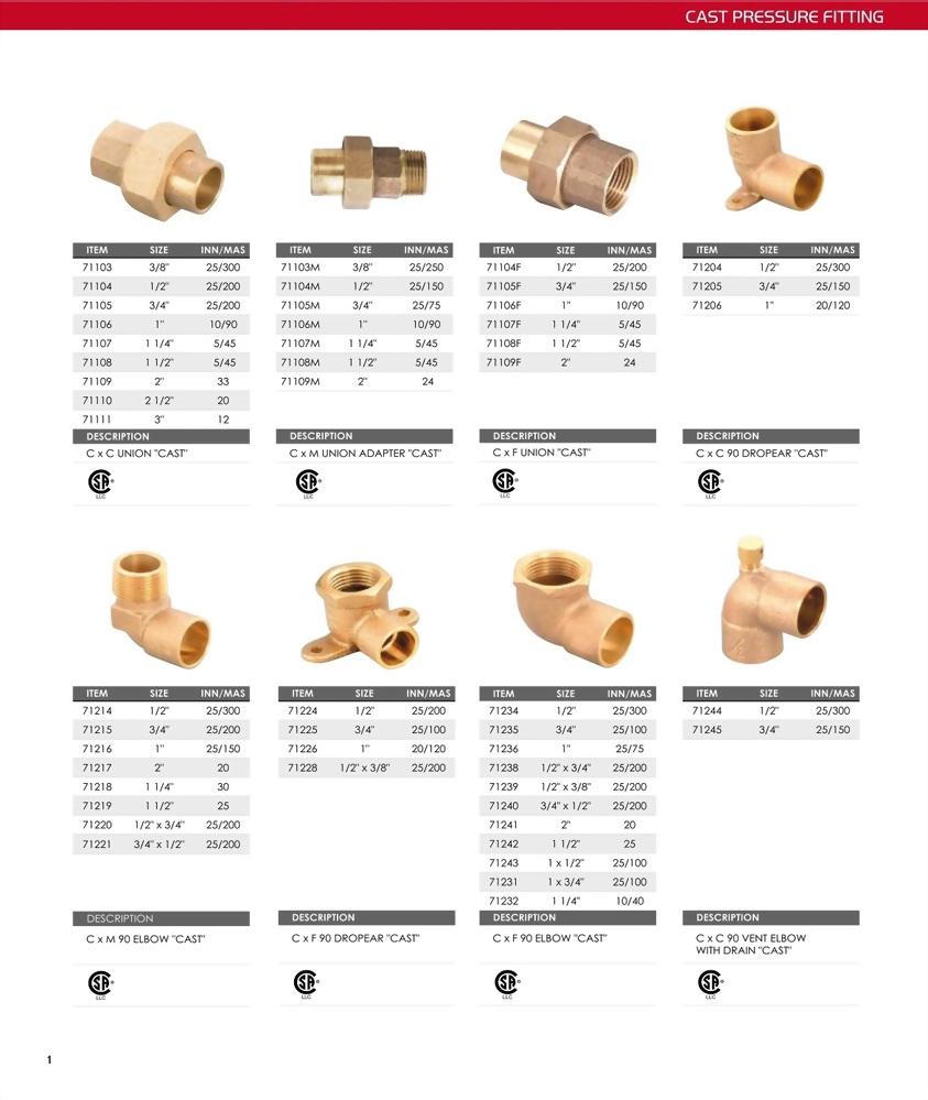 Plumbing Supplies-cast pressure fittings