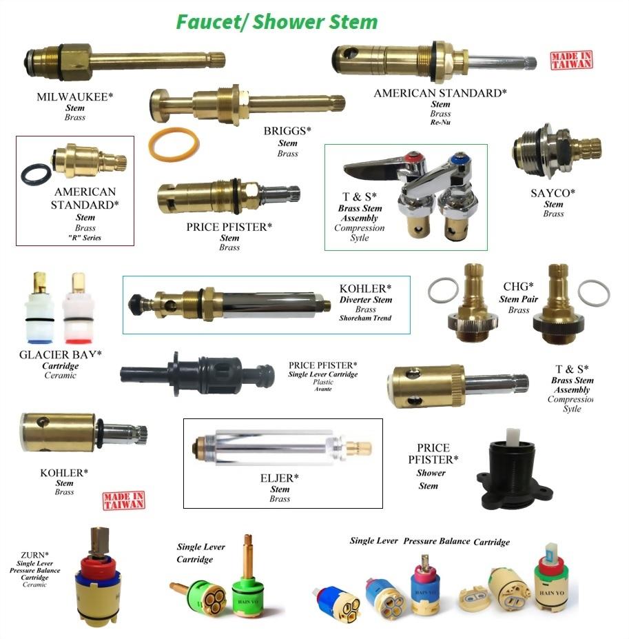 Replacement parts- Faucet/ shower cartridges