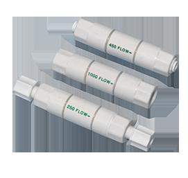 R.O. Water System-flow restrictors