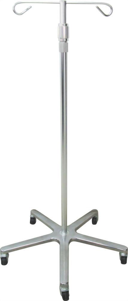 Aluminium I.V.Pole (2 hooks)