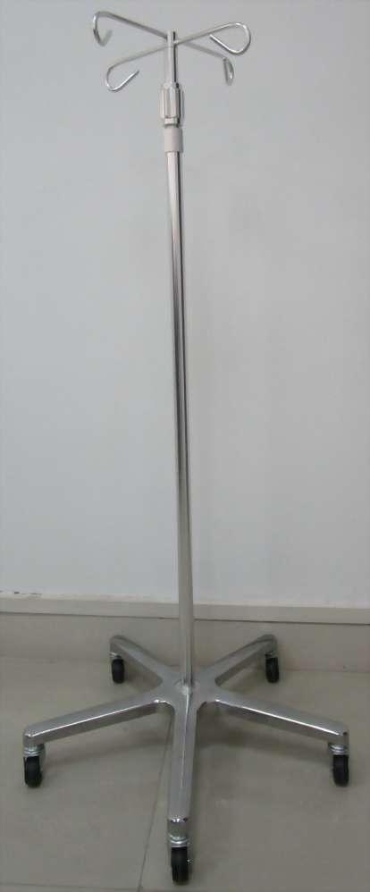 Aluminium I.V.Pole (4 hooks)