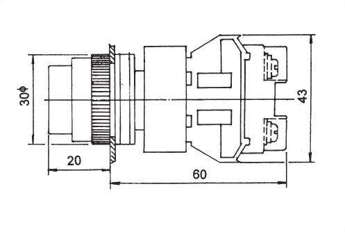 Illuminated Pushbutton Switches NLPB25-1OC