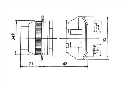 Illuminated Pushbutton Switches NLPB30-1OC