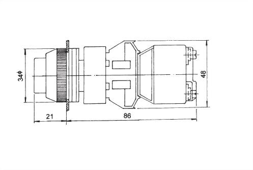 Illuminated Pushbutton Switches TLPB30-1OC