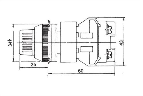 Illuminated Selector Switches NISS30-2O