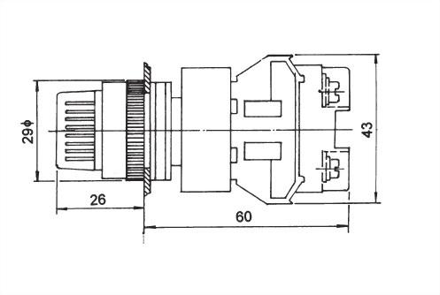 Illuminated Selector Switches NUSS22-2O