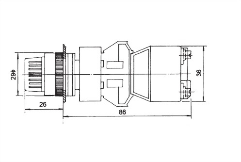 Illuminated Selector Switches TISS22-2O