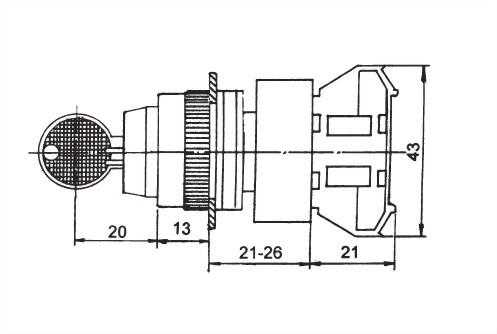 鑰匙選擇開關 AKSS25-1C